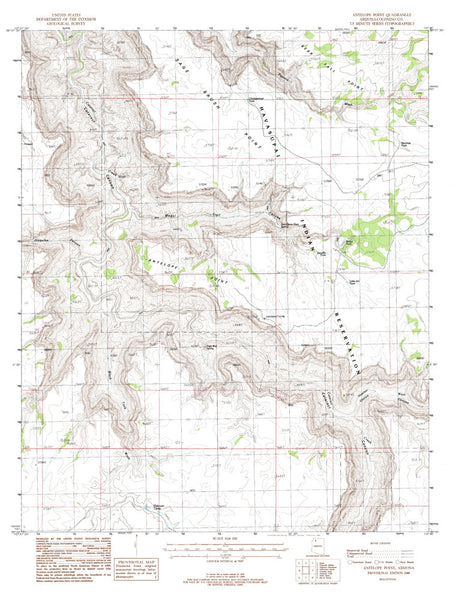 us topo - ANTELOPE POINT, Arizona 7.5' - Wide World Maps & MORE! - Map - Wide World Maps & MORE! - Wide World Maps & MORE!