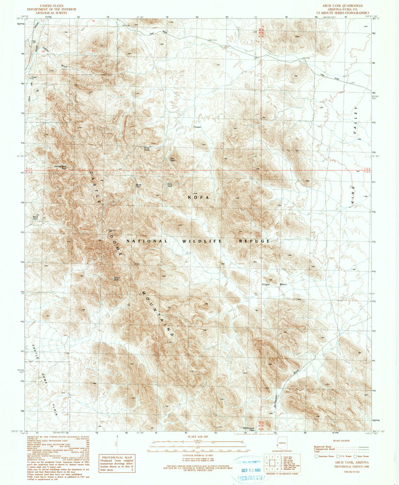 ARCH TANK, Arizona (7.5'×7.5' Topographic Quadrangle)
