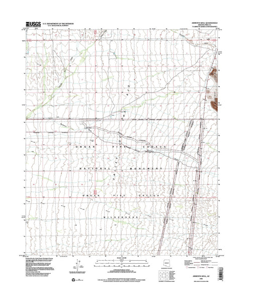 us topo - ARMENTA WELL, Arizona 7.5' - Wide World Maps & MORE! - Map - Wide World Maps & MORE! - Wide World Maps & MORE!