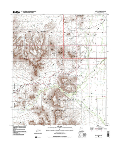 BATES WELL, Arizona 7.5' - Wide World Maps & MORE! - Map - Wide World Maps & MORE! - Wide World Maps & MORE!