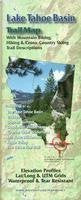 Lake Tahoe Basin Hiking & Biking Trail Map, California