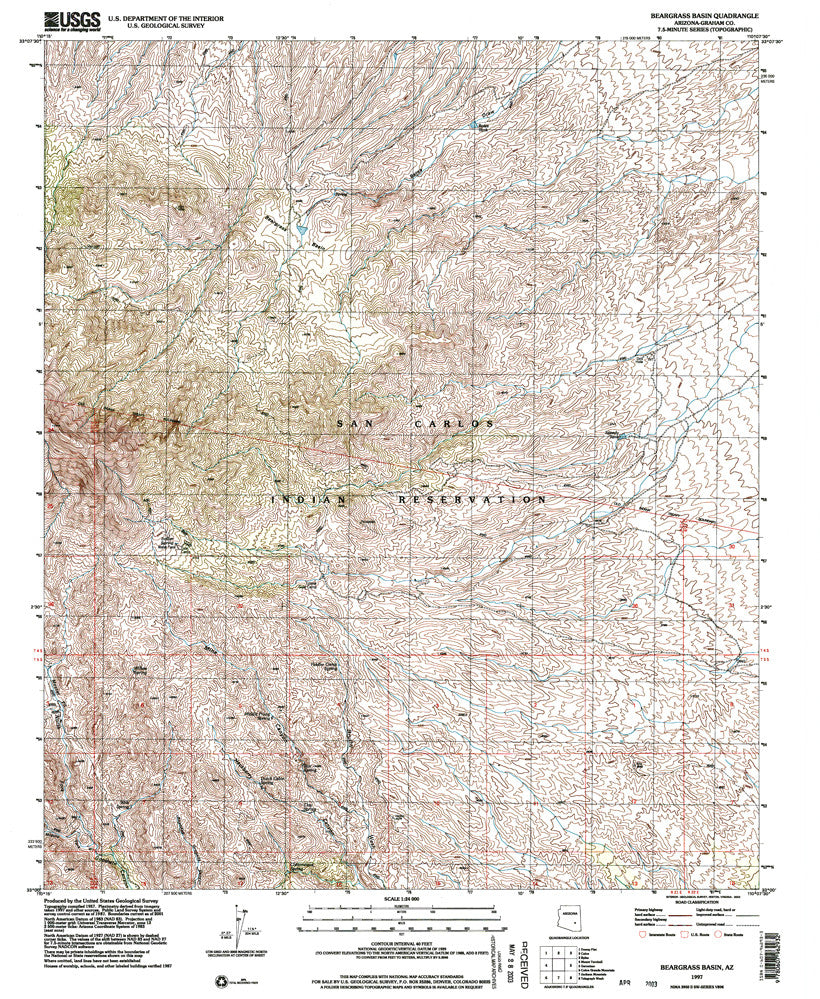 us topo - BEARGRASS BASIN, Arizona 7.5' - Wide World Maps & MORE! - Map - Wide World Maps & MORE! - Wide World Maps & MORE!