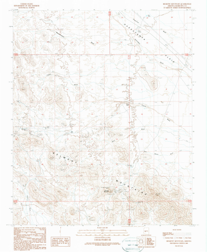 us topo - Belmont Mountain, Arizona (7.5'×7.5' Topographic Quadrangle) - Wide World Maps & MORE! - Map - Wide World Maps & MORE! - Wide World Maps & MORE!