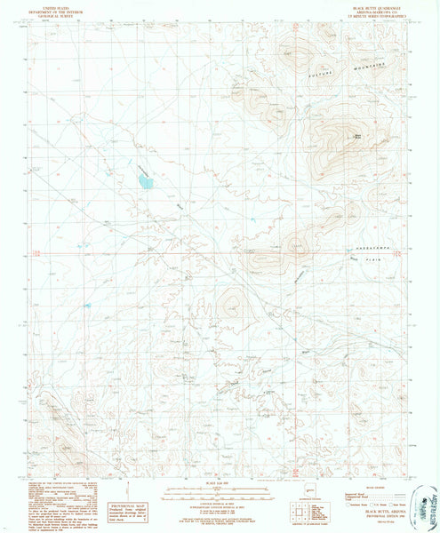 BLACK BUTTE, Arizona (7.5'×7.5' Topographic Quadrangle)
