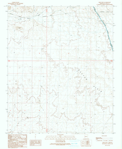us topo - BOBS WELL, Arizona 7.5' - Wide World Maps & MORE! - Map - Wide World Maps & MORE! - Wide World Maps & MORE!