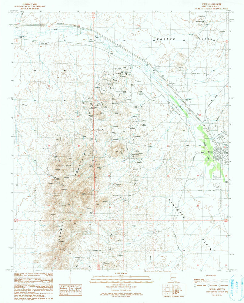 us topo - BOUSE, Arizona 7.5' - Wide World Maps & MORE! - Map - Wide World Maps & MORE! - Wide World Maps & MORE!