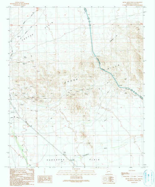 us topo - BOUSE HILLS WEST, Arizona 7.5' - Wide World Maps & MORE! - Map - Wide World Maps & MORE! - Wide World Maps & MORE!