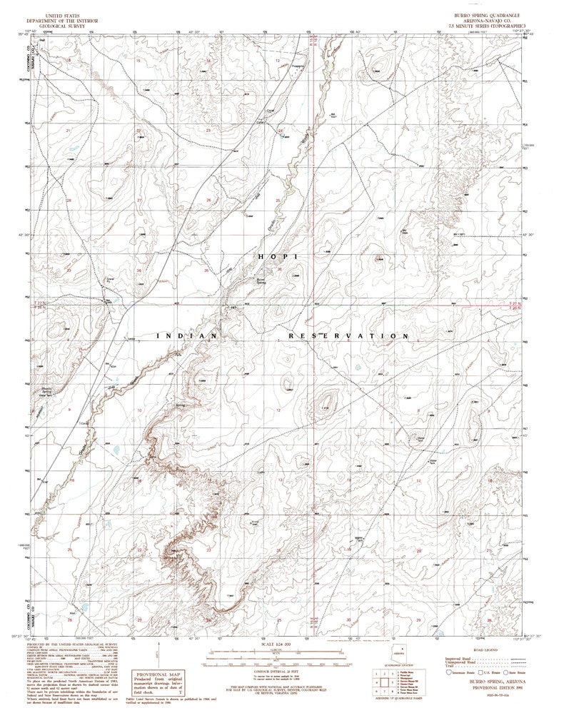 us topo - BURRO SPRING, Arizona 7.5' - Wide World Maps & MORE! - Map - Wide World Maps & MORE! - Wide World Maps & MORE!