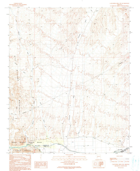 us topo - CASTANEDA HILLS SW, Arizona 7.5' - Wide World Maps & MORE! - Map - Wide World Maps & MORE! - Wide World Maps & MORE!