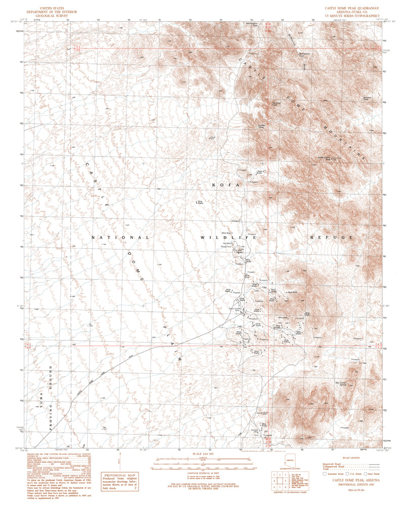 CASTLE DOME PEAK, Arizona (7.5'×7.5' Topographic Quadrangle) - Wide World Maps & MORE! - Map - Wide World Maps & MORE! - Wide World Maps & MORE!