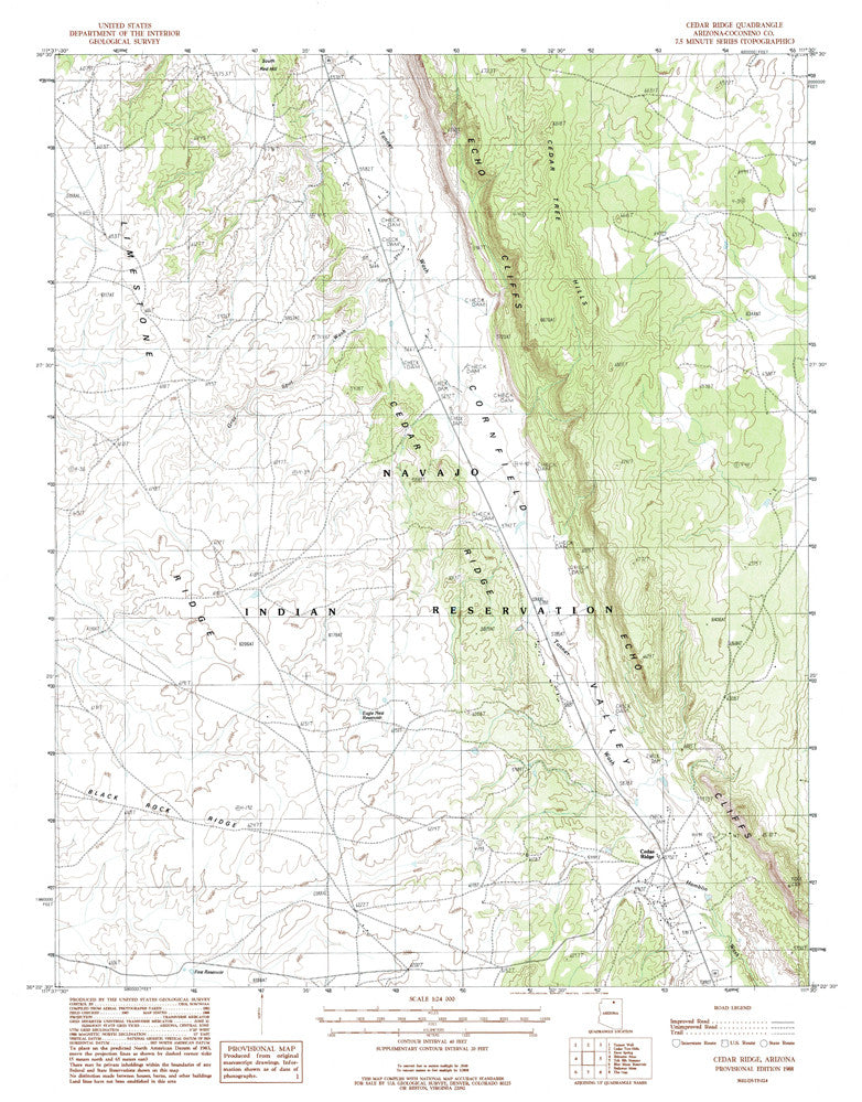us topo - CEDAR RIDGE, Arizona 7.5' - Wide World Maps & MORE! - Map - Wide World Maps & MORE! - Wide World Maps & MORE!