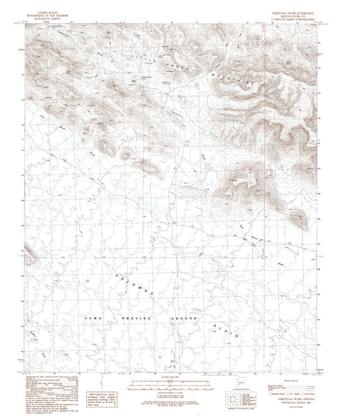CEMENTOSA WASH, Arizona 7.5' - Wide World Maps & MORE! - Map - Wide World Maps & MORE! - Wide World Maps & MORE!
