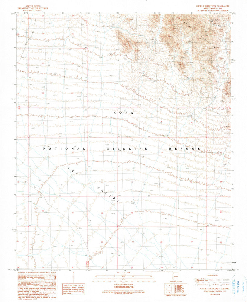 CHARLIE DIED TANK, Arizona (7.5'×7.5' Topographic Quadrangle) - Wide World Maps & MORE! - Map - Wide World Maps & MORE! - Wide World Maps & MORE!