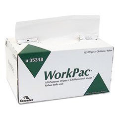 CSD35318 WorkPac All Purpose Wipers, 2-Ply, White, 8.1 x 10 1/4, 125/Box (3-Box Pack Value Bundle)