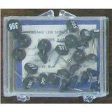 Numbered Map Tacks - Black Pins with White Numbers (4 Boxes of 25: Numbers 101-200) - Wide World Maps & MORE! - Office Product - Moore Push-Pins - Wide World Maps & MORE!