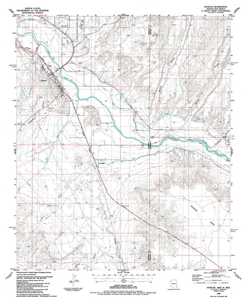 us topo - DUNCAN, Arizona-New Mexico 7.5' - Wide World Maps & MORE! - Map - Wide World Maps & MORE! - Wide World Maps & MORE!