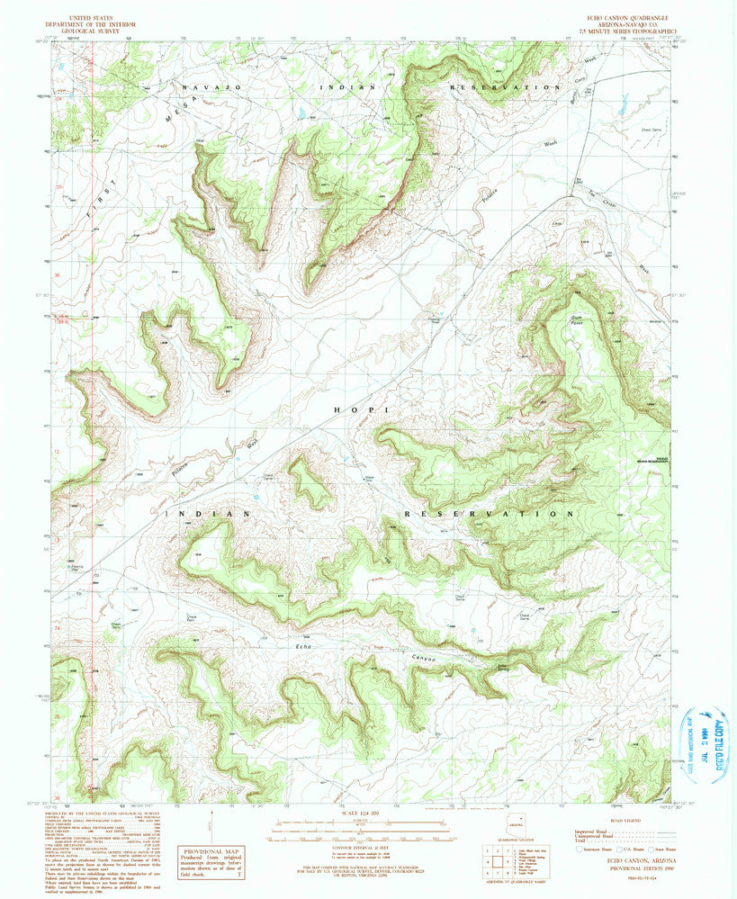 us topo - ECHO CANYON, Arizona 7.5' - Wide World Maps & MORE! - Map - Wide World Maps & MORE! - Wide World Maps & MORE!