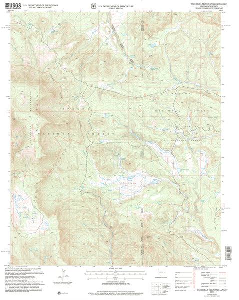 Escudilla Mountain, AZ (7.5'×7.5' Topographic Quadrangle) - Wide World Maps & MORE! - Map - Wide World Maps & MORE! - Wide World Maps & MORE!