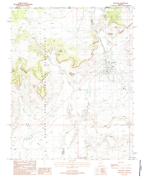 us topo - FREDONIA, Arizona 7.5' - Wide World Maps & MORE! - Map - Wide World Maps & MORE! - Wide World Maps & MORE!