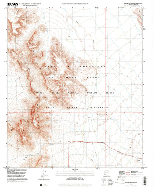 us topo - GROWLER PEAK, Arizona 7.5' - Wide World Maps & MORE! - Map - Wide World Maps & MORE! - Wide World Maps & MORE!
