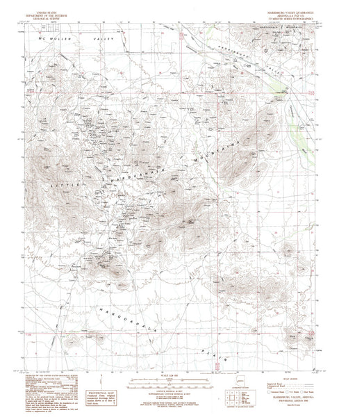 us topo - HARRISBURG VALLEY, Arizona 7.5' - Wide World Maps & MORE! - Map - Wide World Maps & MORE! - Wide World Maps & MORE!