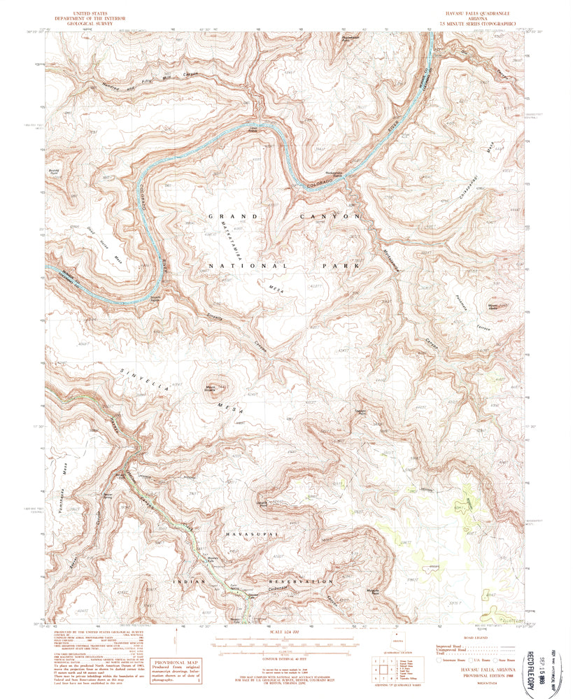 HAVASU FALLS, AZ (7.5'×7.5' Topographic Quadrangle) - Wide World Maps & MORE! - Map - Wide World Maps & MORE! - Wide World Maps & MORE!