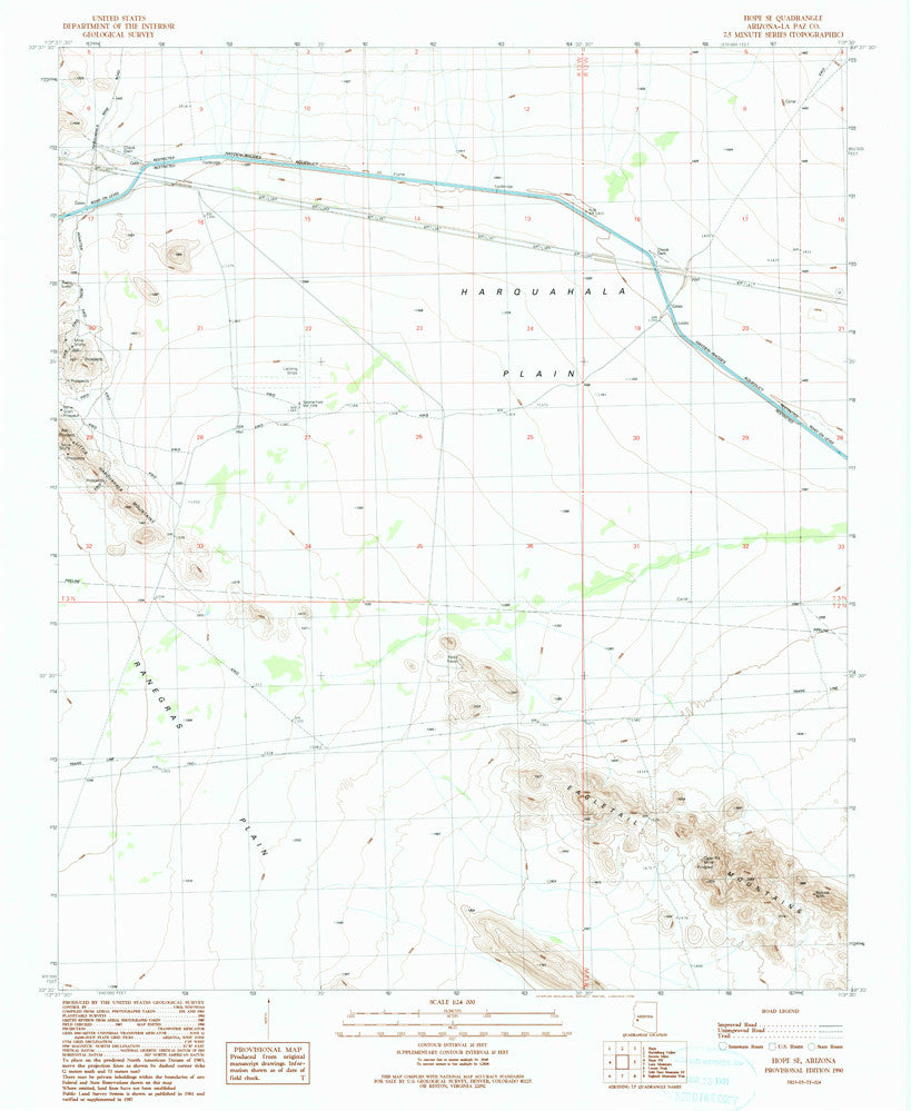 us topo - HOPE Southeast, Arizona (7.5'×7.5' Topographic Quadrangle) - Wide World Maps & MORE! - Map - Wide World Maps & MORE! - Wide World Maps & MORE!