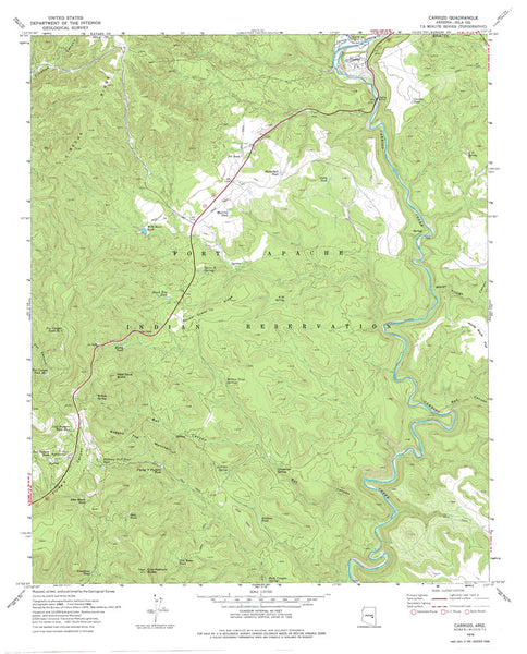 us topo - CARRIZO, Arizona 7.5' - Wide World Maps & MORE! - Map - Wide World Maps & MORE! - Wide World Maps & MORE!