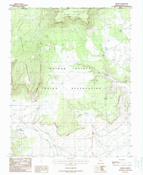 us topo - KAIBAB, Arizona (7.5'×7.5' Topographic Quadrangle) - Wide World Maps & MORE! - Map - Wide World Maps & MORE! - Wide World Maps & MORE!