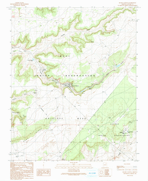 us topo - KEAMS CANYON, Arizona (7.5'×7.5' Topographic Quadrangle) - Wide World Maps & MORE! - Map - Wide World Maps & MORE! - Wide World Maps & MORE!