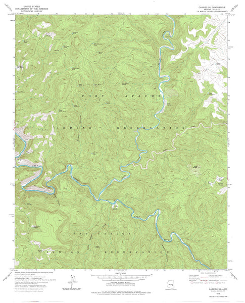 CARRIZO SE, Arizona 7.5' - Wide World Maps & MORE! - Map - Wide World Maps & MORE! - Wide World Maps & MORE!