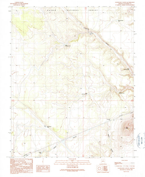 LOCKWOOD CANYON, Arizona (7.5'×7.5' Topographic Quadrangle)