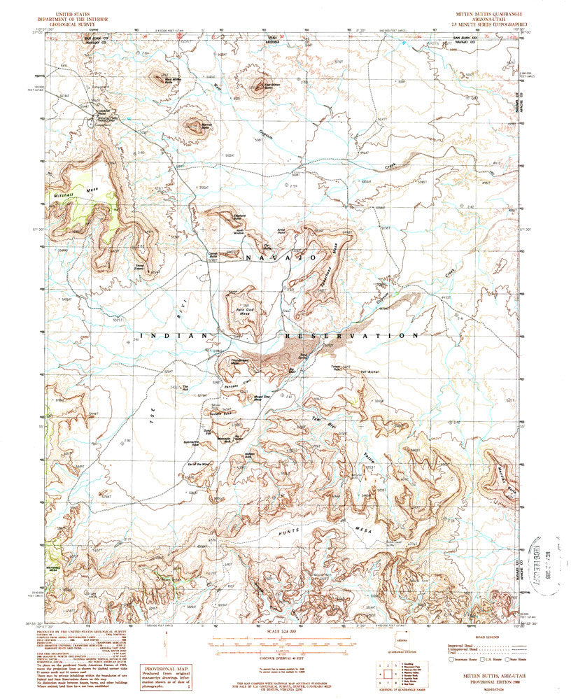 MITTEN BUTTES, Arizona-Utah 7.5' - Wide World Maps & MORE! - Map - Wide World Maps & MORE! - Wide World Maps & MORE!