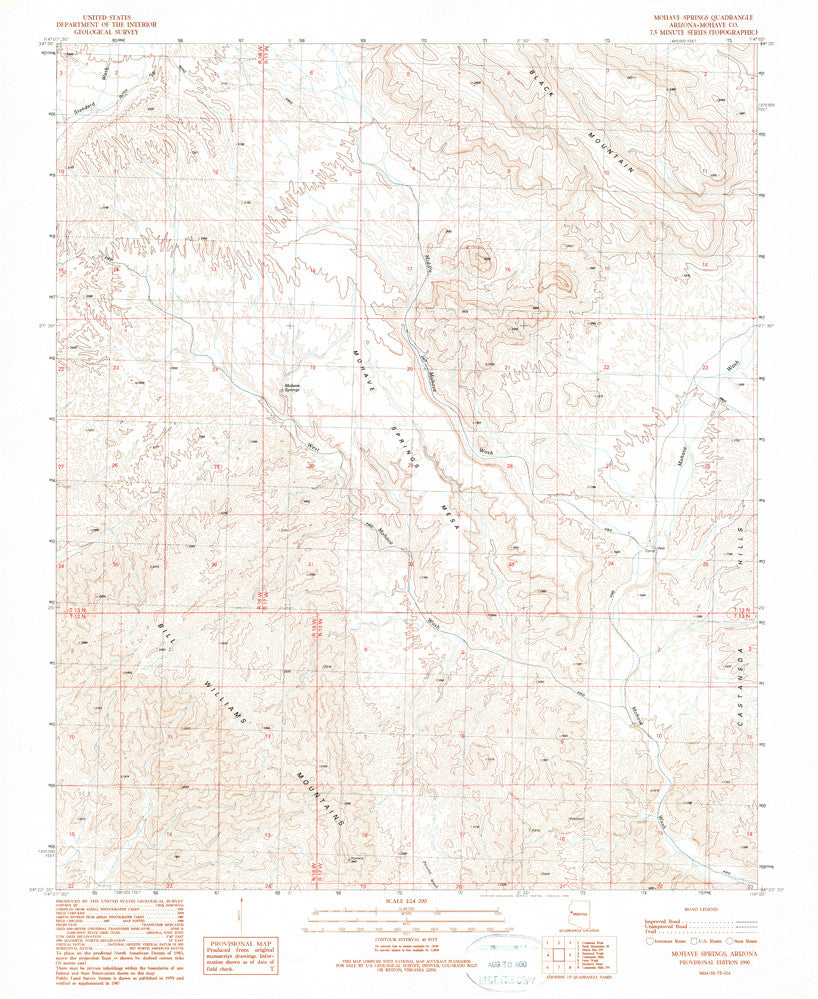 us topo - MOHAVE SPRINGS, Arizona 7.5' - Wide World Maps & MORE! - Map - Wide World Maps & MORE! - Wide World Maps & MORE!