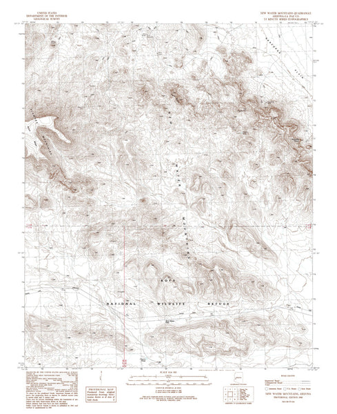NEW WATER MNTS, Arizona 7.5' - Wide World Maps & MORE! - Map - Wide World Maps & MORE! - Wide World Maps & MORE!