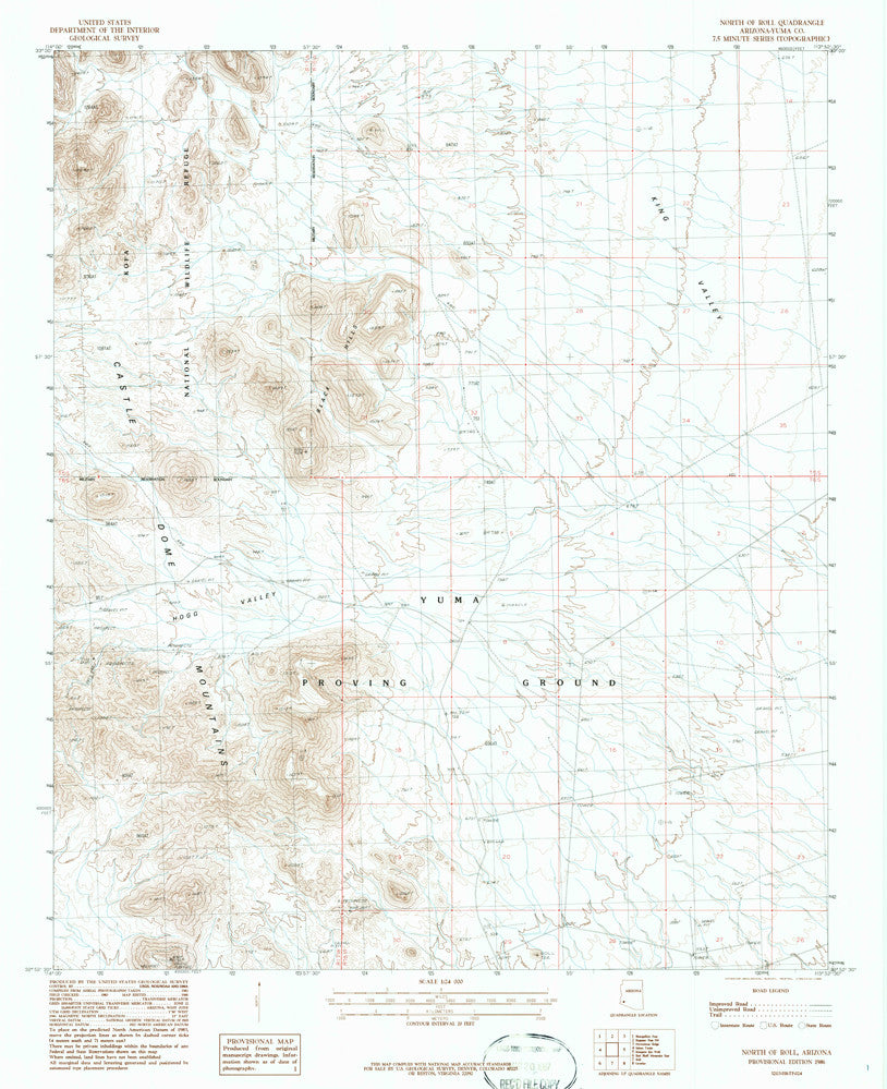 NORTH OF ROLL, Arizona 7.5' - Wide World Maps & MORE! - Map - Wide World Maps & MORE! - Wide World Maps & MORE!