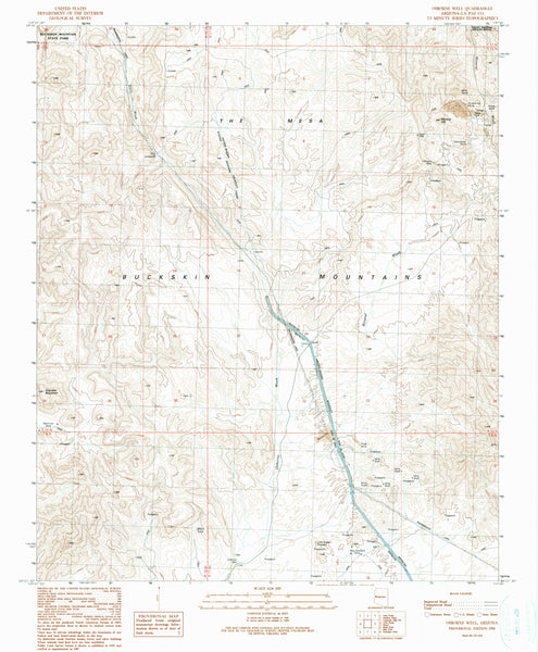 OSBORNE WELL, Arizona (7.5'×7.5' Topographic Quadrangle)