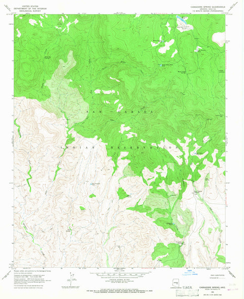 us topo - CASSADORE SPRING, Arizona 7.5' - Wide World Maps & MORE! - Map - Wide World Maps & MORE! - Wide World Maps & MORE!