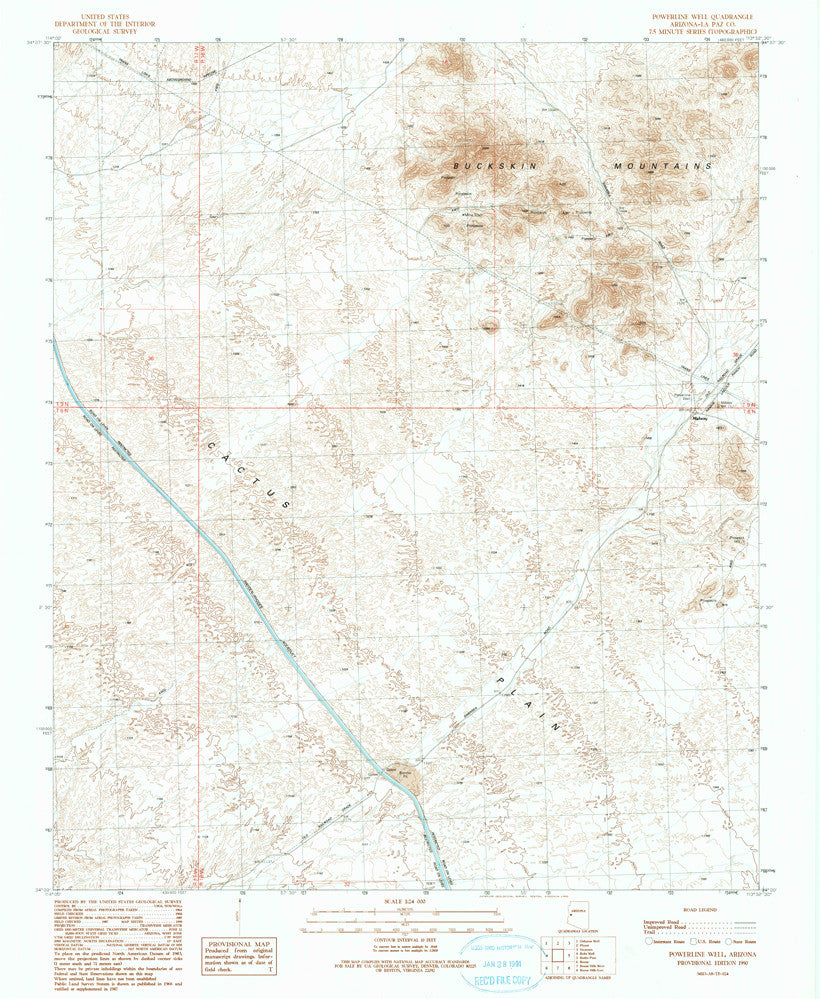 Powerline Well, Arizona (7.5'×7.5' Topographic Quadrangle) - Wide World Maps & MORE! - Map - Wide World Maps & MORE! - Wide World Maps & MORE!