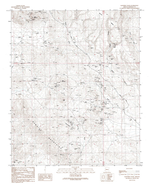 us topo - RAWHIDE WASH, Arizona 7.5' - Wide World Maps & MORE! - Map - Wide World Maps & MORE! - Wide World Maps & MORE!