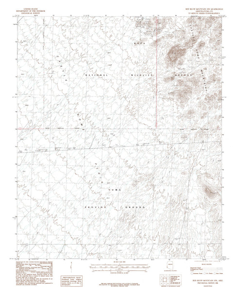 us topo - RED BLUFF MTN NW, Arizona 7.5' - Wide World Maps & MORE! - Map - Wide World Maps & MORE! - Wide World Maps & MORE!