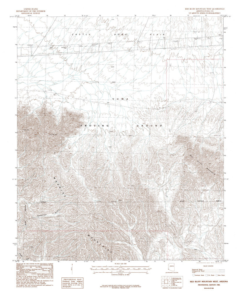 us topo - RED BLUFF MTN WEST, Arizona 7.5' - Wide World Maps & MORE! - Map - Wide World Maps & MORE! - Wide World Maps & MORE!
