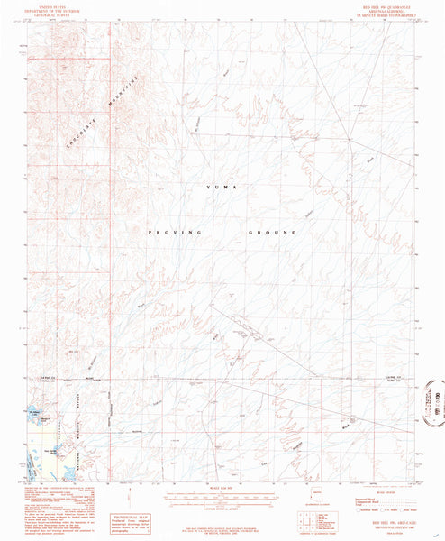 RED HILL SW, Arizona-California 7.5' - Wide World Maps & MORE! - Map - Wide World Maps & MORE! - Wide World Maps & MORE!