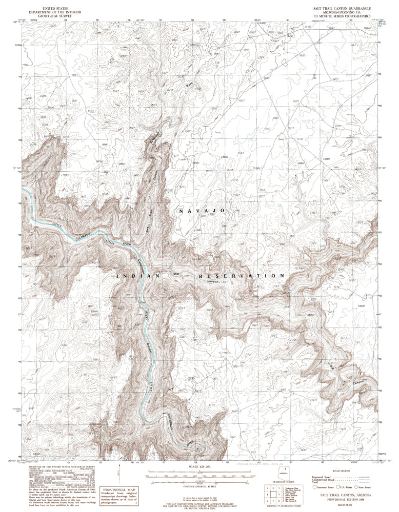 SALT TRAIL CANYON, Arizona (7.5'×7.5' Topographic Quadrangle)