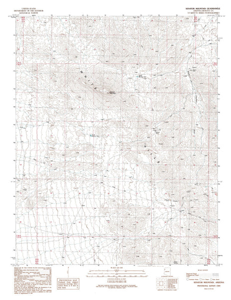 us topo - SENATOR MOUNTAIN, Arizona 7.5' - Wide World Maps & MORE! - Map - Wide World Maps & MORE! - Wide World Maps & MORE!