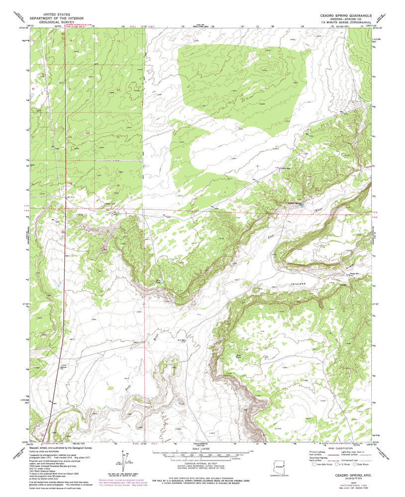 us topo - CEADRO SPRING, Arizona 7.5' - Wide World Maps & MORE! - Map - Wide World Maps & MORE! - Wide World Maps & MORE!