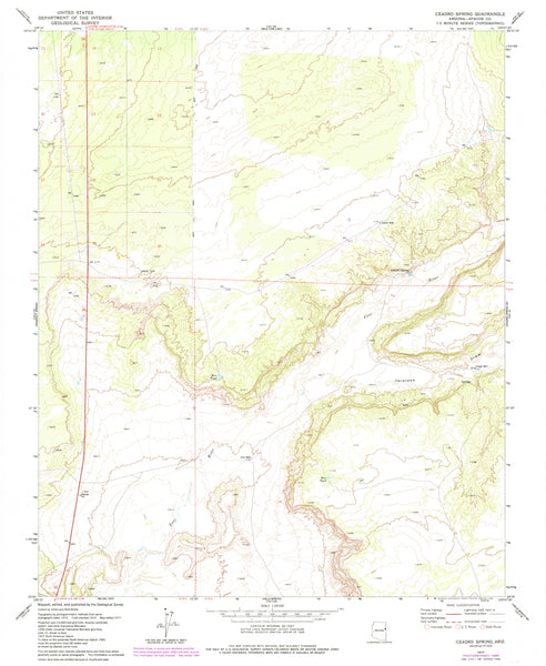 CEADRO SPRING, Arizona (7.5'×7.5' Topographic Quadrangle)