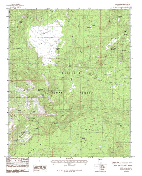SMITH MESA, Arizona 7.5' - Wide World Maps & MORE! - Map - Wide World Maps & MORE! - Wide World Maps & MORE!