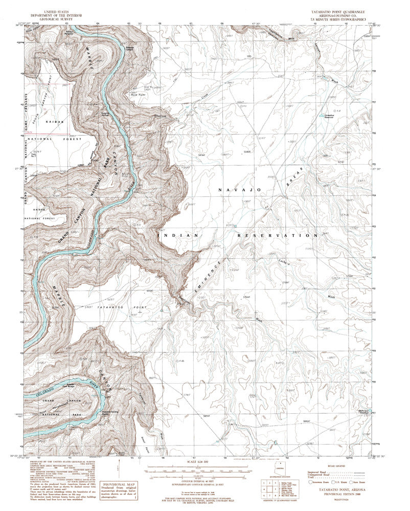 TATAHATSO POINT, Arizona 7.5' - Wide World Maps & MORE! - Map - Wide World Maps & MORE! - Wide World Maps & MORE!