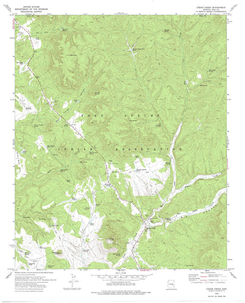 us topo - CEDAR CREEK, Arizona 7.5' - Wide World Maps & MORE! - Map - Wide World Maps & MORE! - Wide World Maps & MORE!